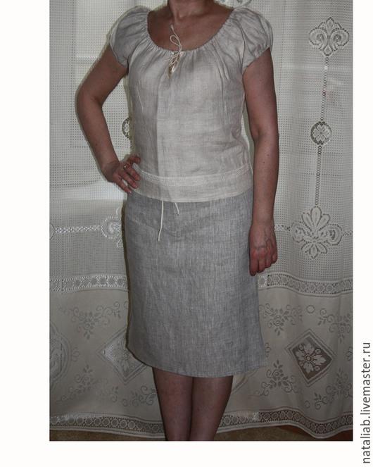 """Блузки ручной работы. Ярмарка Мастеров - ручная работа. Купить Льняная блузочка """"Крестьянка"""". Handmade. Льняная одежда, блузка из льна"""