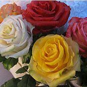 Цветы и флористика handmade. Livemaster - original item Roses from polymer clay. Handmade.
