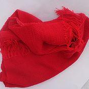Аксессуары handmade. Livemaster - original item Red homespun scarf-stole. Handmade.