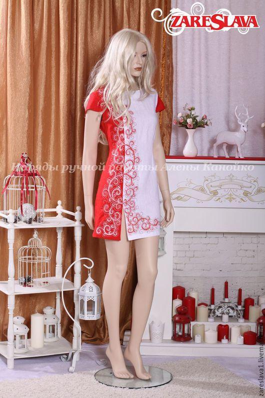 Платья ручной работы. Ярмарка Мастеров - ручная работа. Купить Платье по мотивам Огнецвета короткое. Handmade. Ярко-красный