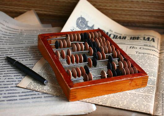Винтажные предметы интерьера. Ярмарка Мастеров - ручная работа. Купить Счеты миниатюрные. Handmade. Комбинированный, счеты, купить, школьнику, продаю