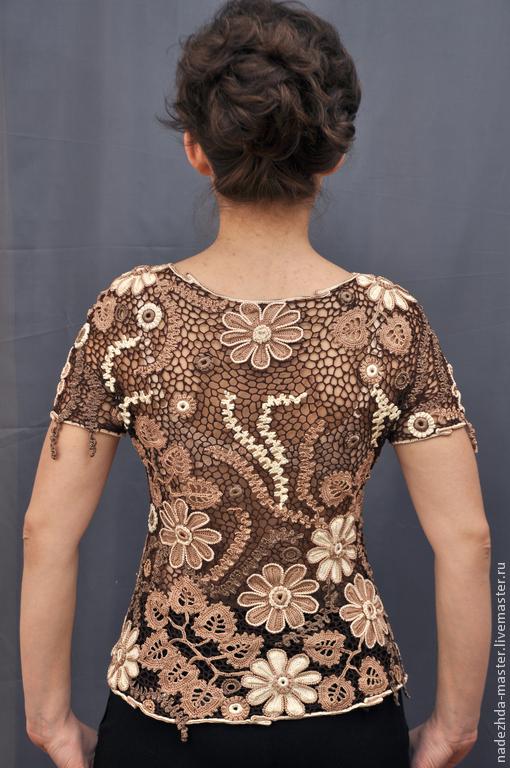 Блузка ажурная купить