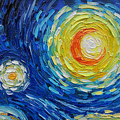 Картины и панно handmade. Livemaster - original item Oil painting with motives of Vincent van Gogh Starry night. Handmade.