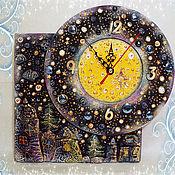 """Для дома и интерьера ручной работы. Ярмарка Мастеров - ручная работа Часы """"Ночь перед Рождеством"""". Handmade."""