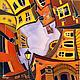 """Город ручной работы. Ярмарка Мастеров - ручная работа. Купить """"Мои Петербургские сны"""". Handmade. Батик, акрил, Питер, фонарь"""