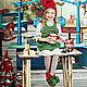 Шапки ручной работы. Рождественское настроение. Багулина Галина (bags). Интернет-магазин Ярмарка Мастеров. Однотонный, шапочка валяная