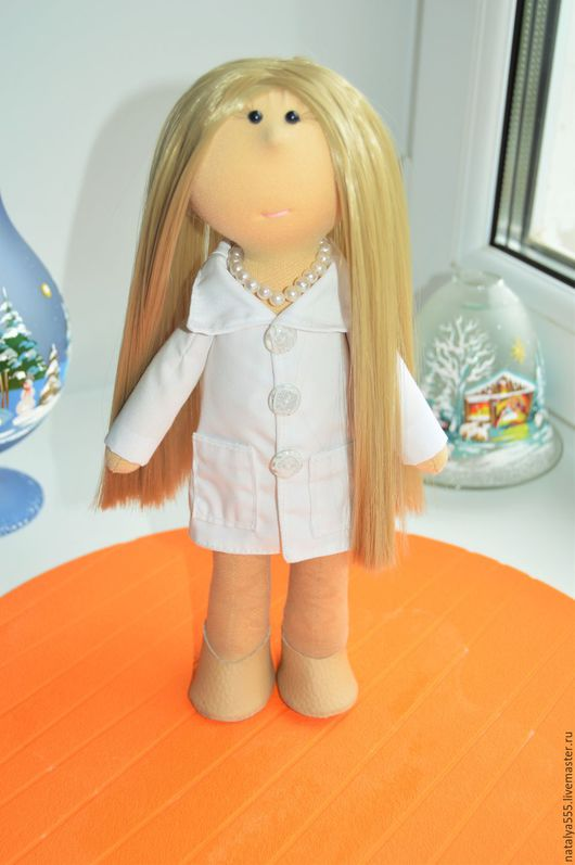 """Куклы тыквоголовки ручной работы. Ярмарка Мастеров - ручная работа. Купить """" Маша - 2 """" - интерьерная куколка. Handmade."""