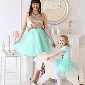 Одежда ручной работы. Ярмарка Мастеров - ручная работа Фатиновые юбки для мамы и дочки Familylook. Handmade.
