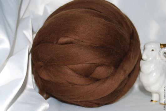 Австралийский топс меринос 18 мкм №222 коричневый
