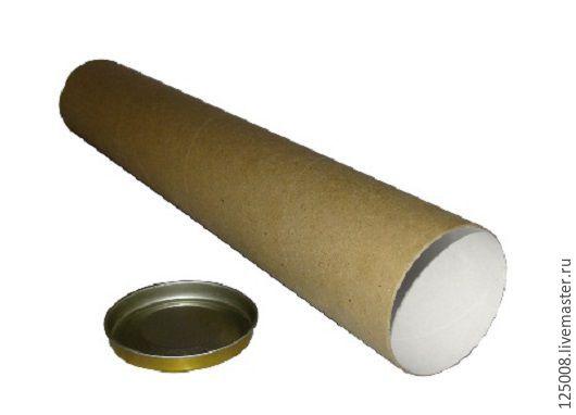 Упаковка ручной работы. Ярмарка Мастеров - ручная работа. Купить Тубус D-80мм длина - 100 см. Handmade. Бурый