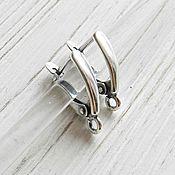 Материалы для творчества handmade. Livemaster - original item Earrings silver plated with lock (art. 2507). Handmade.