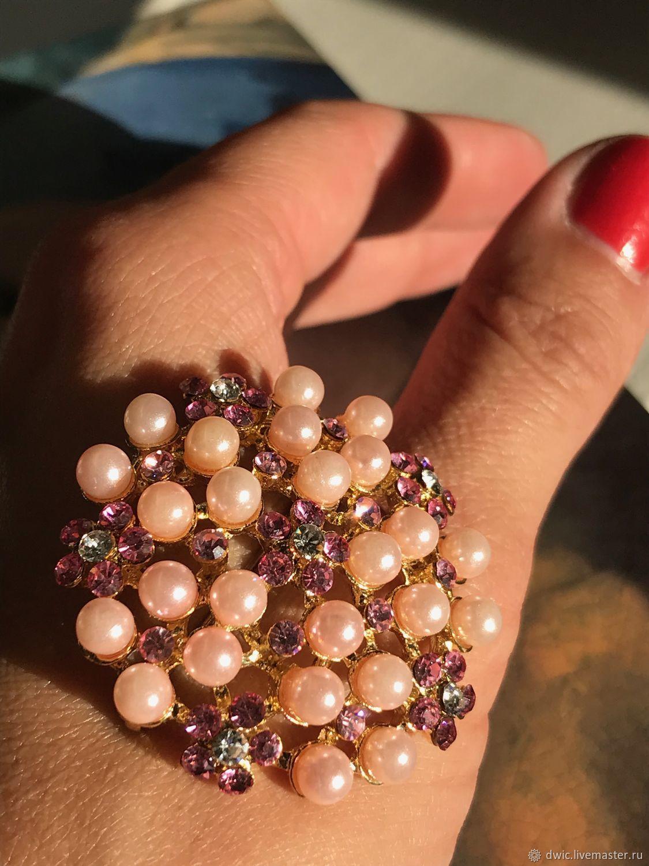 Cloudberry brooch, Swarovski crystals, handmade, Europe, Vintage accessories, Arnhem,  Фото №1
