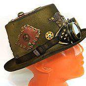 "Субкультуры handmade. Livemaster - original item Cylinder Hat Steampunk Goggle and ""Steampunk Gentleman"". Handmade."