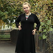 "Одежда handmade. Livemaster - original item Knitted dress ""Cosy for You""- Raglan sleeve with lace. Handmade."