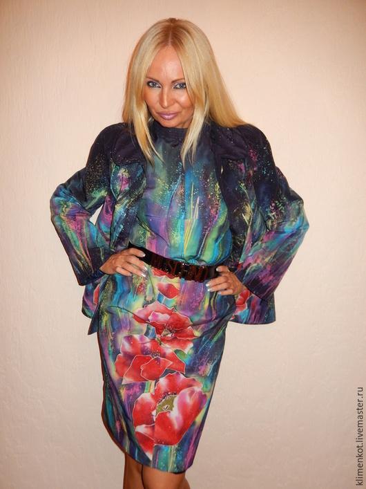 Верхняя одежда ручной работы. Ярмарка Мастеров - ручная работа. Купить Куртка+ платье(теплые,стеганные) - Фейерверк чувств. Handmade. Разноцветный