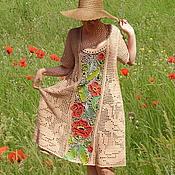 """Одежда ручной работы. Ярмарка Мастеров - ручная работа Вязаное платье """"Мак-степной огонек"""". Handmade."""