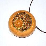 Украшения handmade. Livemaster - original item Aroma bottle made of irga wood for essential oils WP57. Handmade.