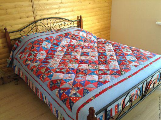 Купить одеяло лоскутное. Ярмарка мастеров- ручная работа. Handmade.