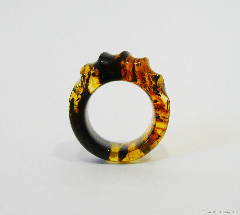 Ring of amber 'Plasma' 18 size P-122, Rings, Svetlogorsk,  Фото №1