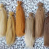 Материалы для творчества ручной работы. Ярмарка Мастеров - ручная работа Волосы для кукол гофре 20см. Handmade.