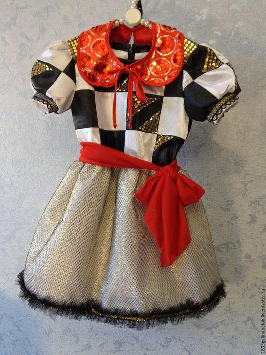 Одежда для девочек, ручной работы. Ярмарка Мастеров - ручная работа. Купить Платье для девочки Шахматная королева. Handmade. Белый