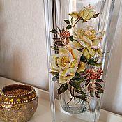 Для дома и интерьера handmade. Livemaster - original item Crystal vase Autumn. Handmade.