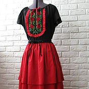 Одежда handmade. Livemaster - original item Dress with embroidery
