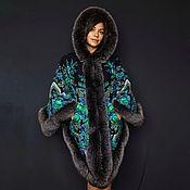 Одежда handmade. Livemaster - original item Poncho made of a scarf