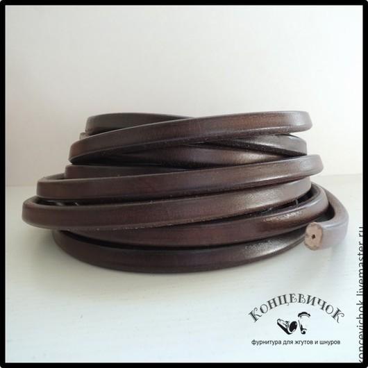Для украшений ручной работы. Ярмарка Мастеров - ручная работа. Купить Темно-коричневый шнур регализ с отверстием. Испания. Handmade.