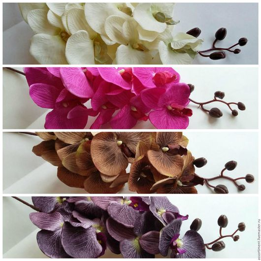 Материалы для флористики ручной работы. Ярмарка Мастеров - ручная работа. Купить Орхидея ткань 80см. Handmade. Искусственные цветы, зелень
