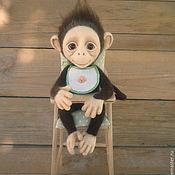 Куклы и игрушки ручной работы. Ярмарка Мастеров - ручная работа Обезьянка валяная Юка. Handmade.