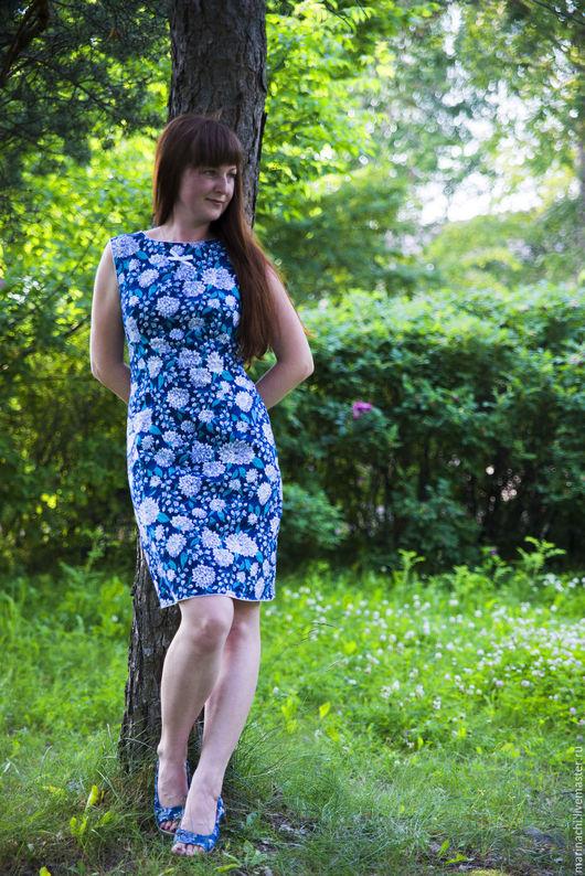 Платья ручной работы. Ярмарка Мастеров - ручная работа. Купить Платье летнее Ретро стиль Платье хлопок Футляр. Handmade.
