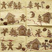 Материалы для творчества handmade. Livemaster - original item Napkins for decoupage gingerbread town print. Handmade.