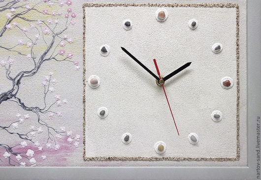 """Часы для дома ручной работы. Ярмарка Мастеров - ручная работа. Купить """"БЕЗМЯТЕЖНОСТЬ"""" из песка часы авторские. Handmade. Бежевый"""