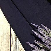 Ткани ручной работы. Ярмарка Мастеров - ручная работа Футер 2-нитка петельный Темно-синий. Handmade.