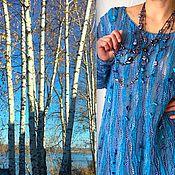 """Одежда ручной работы. Ярмарка Мастеров - ручная работа Джемпер """"Волжское небо"""". Handmade."""