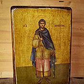 Картины и панно handmade. Livemaster - original item The icon of the Holy great Martyr Nikita (Gothic). Handmade.