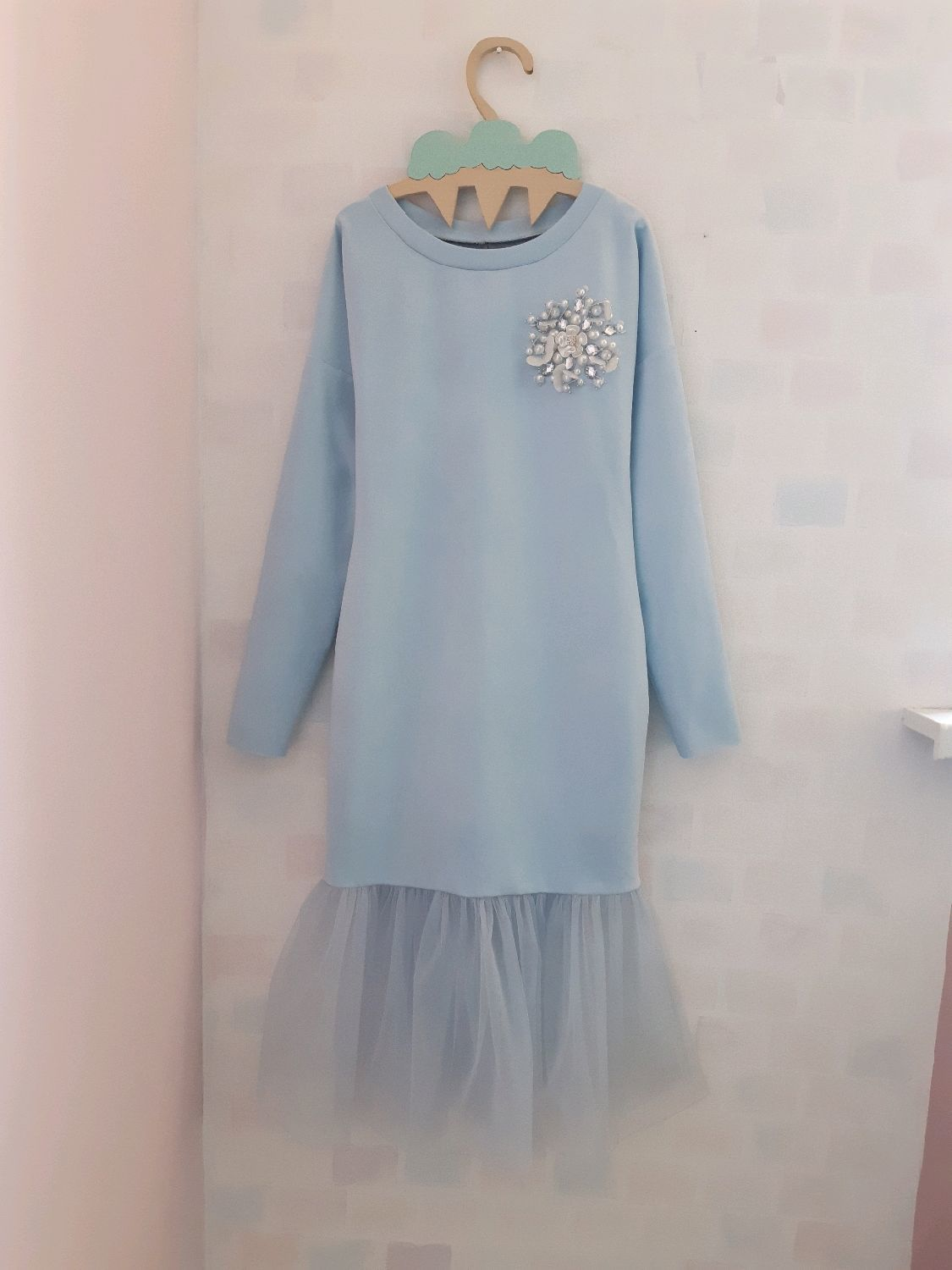 29f29e965f9 ... Family look handmade. Order Evening dresses familily in the same style  for Mom and daughter ...
