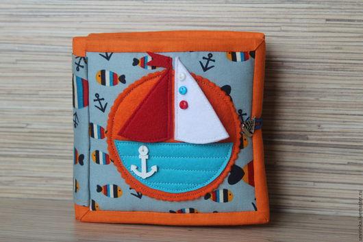 """Развивающие игрушки ручной работы. Ярмарка Мастеров - ручная работа. Купить Развивающая книжка-малышка """"Море"""". Handmade. Комбинированный, развивашка"""
