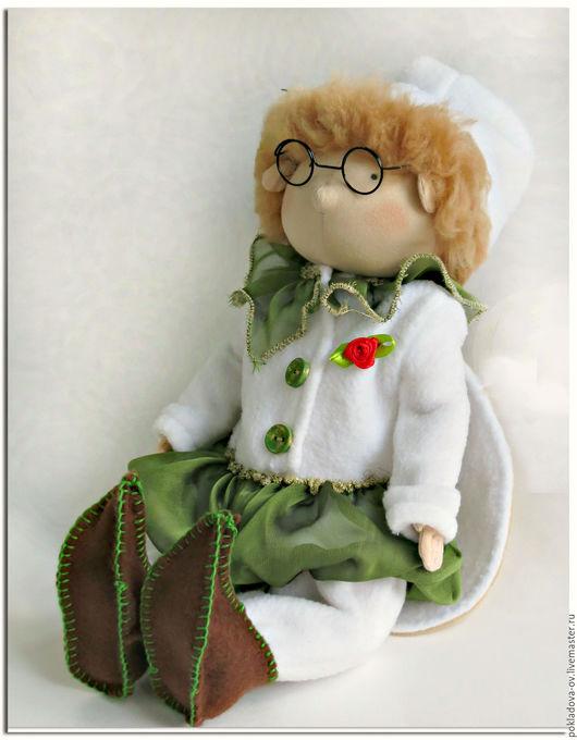 Человечки ручной работы. Ярмарка Мастеров - ручная работа. Купить Шарнирная текстильная кукла Цветочный Гном. Handmade. шарнирная игрушка