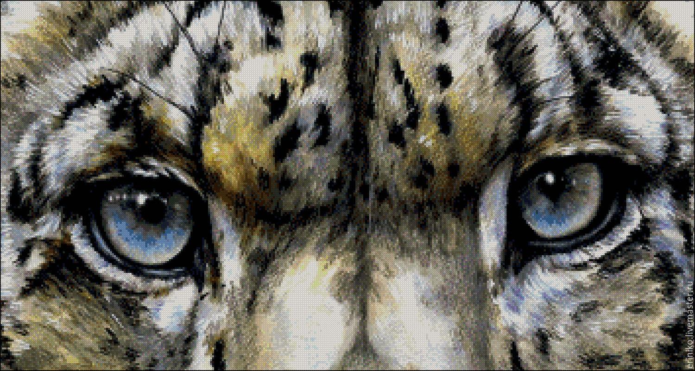 Глаза кошки схема вышивка