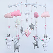 Работы для детей, handmade. Livemaster - original item Children`s mobile for girls
