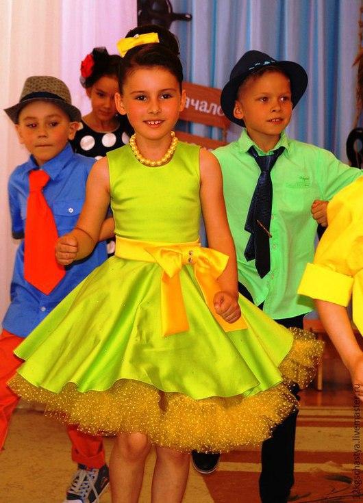"""Одежда для девочек, ручной работы. Ярмарка Мастеров - ручная работа. Купить Платье для девочки """"Стиляги"""". Handmade. Салатовый, Платье нарядное"""