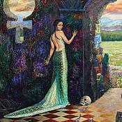 handmade. Livemaster - original item Mistress of Copper mountain. 100h120 cm. oil on canvas. Handmade.