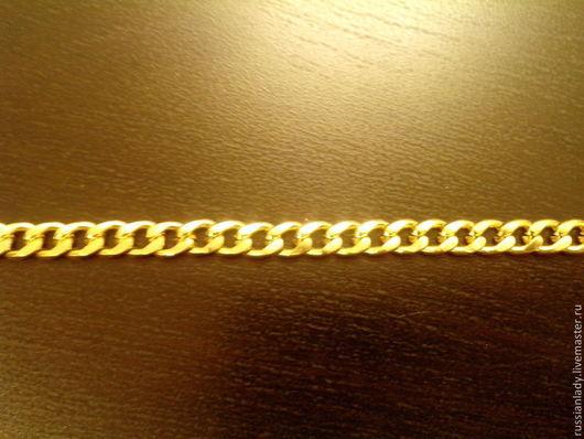 Для украшений ручной работы. Ярмарка Мастеров - ручная работа. Купить Цепь 6 мм золотистая. Handmade. Золотой