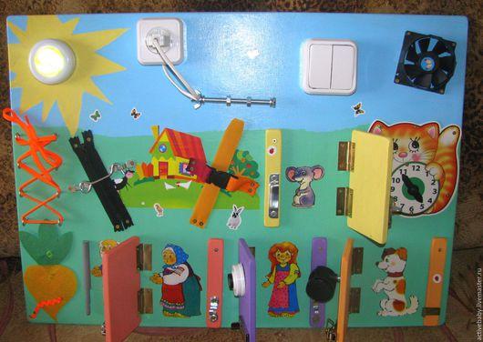 Развивающие игрушки ручной работы. Ярмарка Мастеров - ручная работа. Купить Бизиборд Развивающая доска Репка. Handmade. Комбинированный