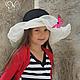 """Шляпы ручной работы. Ярмарка Мастеров - ручная работа. Купить Детская летняя шляпа """"Le vol du papillon"""" (Полёт бабочки). Handmade."""