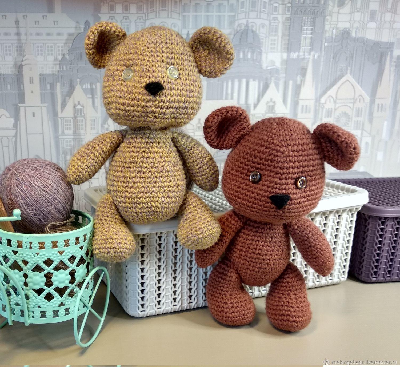 Медвежонок вязанный, малыш, Мягкие игрушки, Москва,  Фото №1