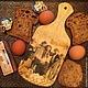 Кухня ручной работы. Ярмарка Мастеров - ручная работа. Купить Доска для хлеба. Handmade. Доска разделочная, подарок девушке, ретро