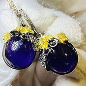 Украшения handmade. Livemaster - original item Earrings with natural amethyst